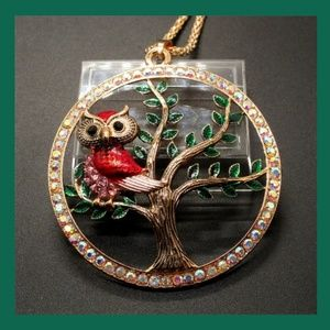 Jewelry - 🦉 Owl in Tree Necklace